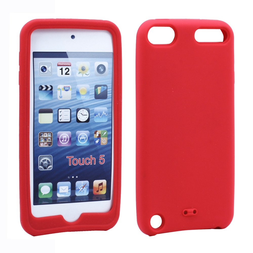 wholesale ipod touch 5 silicone skin case red. Black Bedroom Furniture Sets. Home Design Ideas