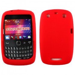 Blackberry Curve 9350 9360 Silicone Soft Case (Red)