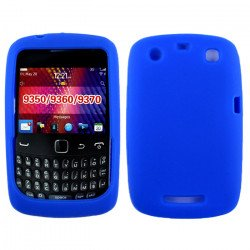 Blackberry Curve 9350 9360 Silicone Soft Case (Blue)