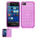 Wholesale Black Berry Z10 TPU Gel Case (Hot Pink)