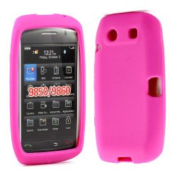 BlackBerry Torch 9850 9860 Silicon Soft Case (Hot Pink)