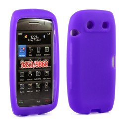 BlackBerry Torch 9850 9860 Silicon Soft Case (Purple)