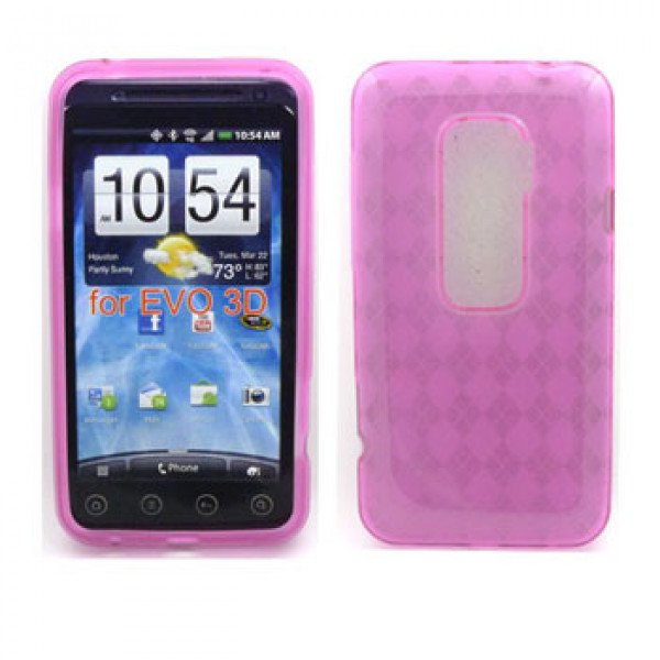 Wholesale Gel Case  for HTC Evo 3D(Pink)
