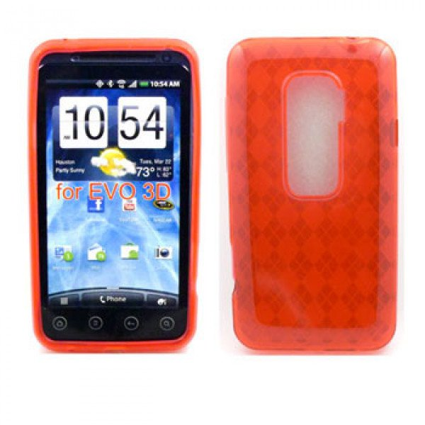 Wholesale Gel Case  for HTC Evo 3D(Red)
