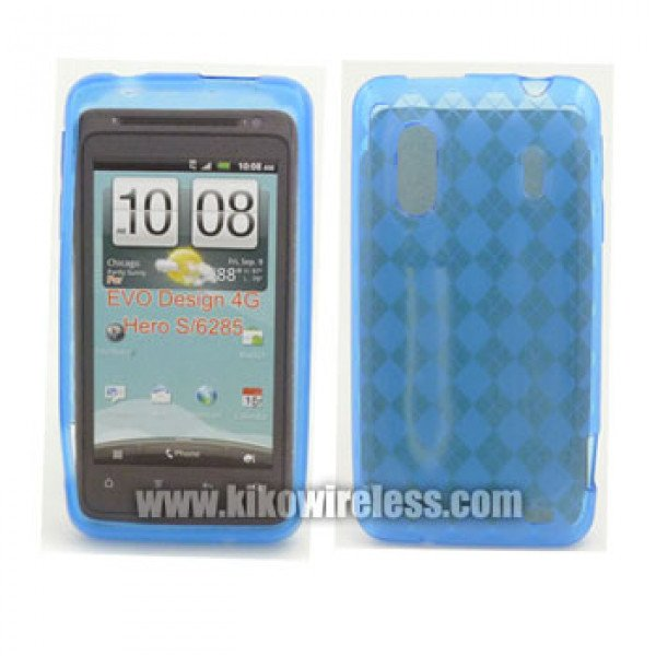 Wholesale TPU Gel Case for HTC Evo Design 4G (Blue)