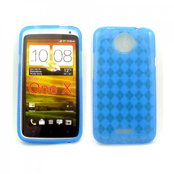 Wholesale Gel Case  for HTC One X(Blue)