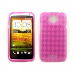 Wholesale Gel Case  for HTC One X(Pink)