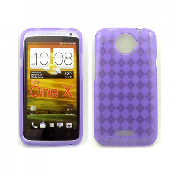 Wholesale Gel Case  for HTC One X(Purple)
