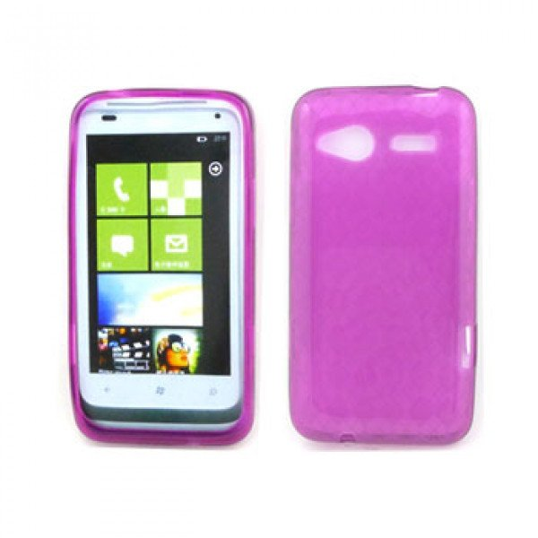 Wholesale HTC Radar Gel Case (Purple)