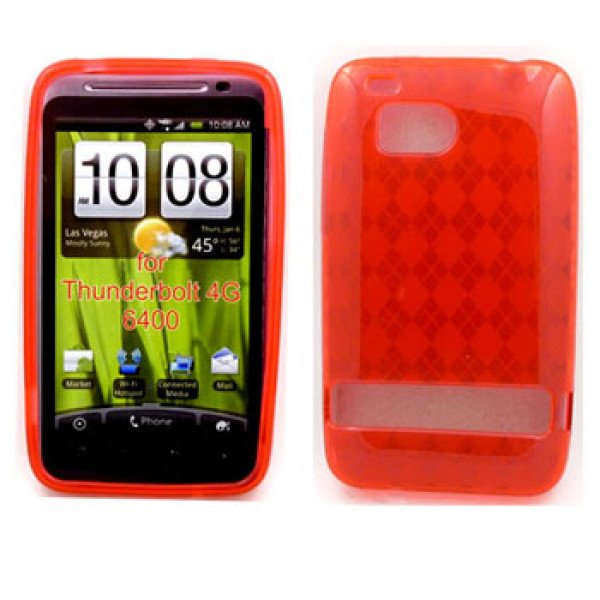 Wholesale Gel Case  for HTC Thunderbolt(Red)