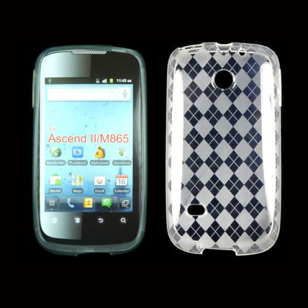 Wholesale TPU Gel Case for Huawei Ascend II / M865 (Clear)