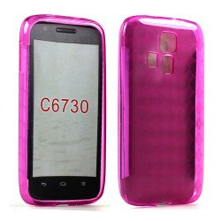 Kyocera Hydro Icon C6730 TPU Gel Case (Hot Pink)