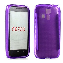 Kyocera Hydro Icon C6730 TPU Gel Case (Purple)