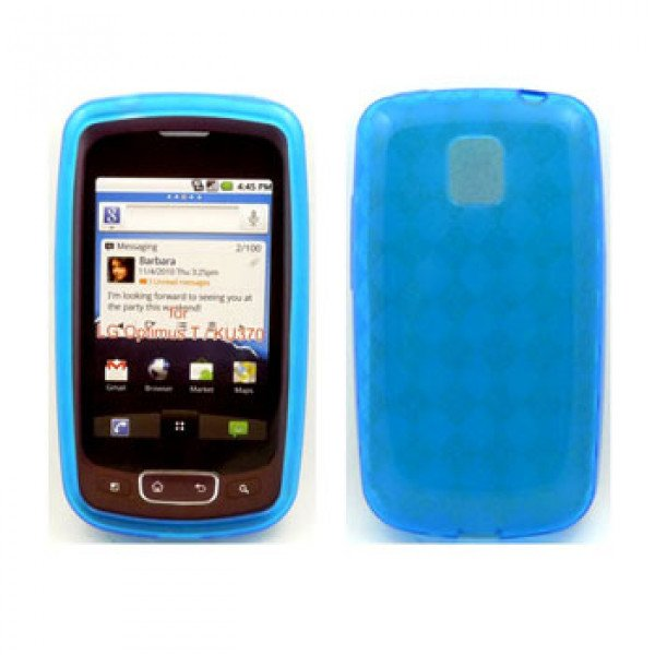 Wholesale TPU Gel Case for LG Optimus T / P509 (Blue)