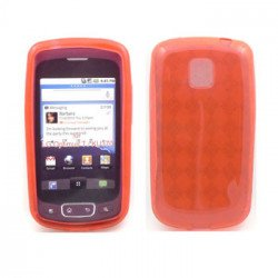 TPU Gel Case for LG Optimus T / P509 (Red)