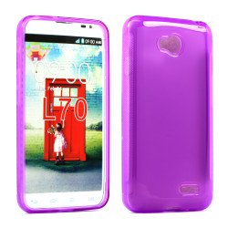 LG Optimus L70 Exceed 2 TPU Gel Case (Purple)