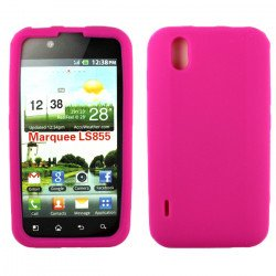 LG Marquee LS855 Silicon Soft Case (Hot Pink)