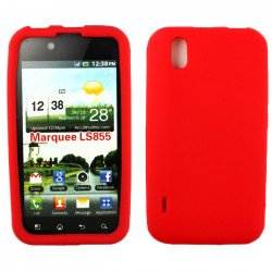 LG Marquee LS855 Silicon Soft Case (Red)