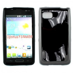 LG Optimus F3 MS659 TPU Gel Case (Black)