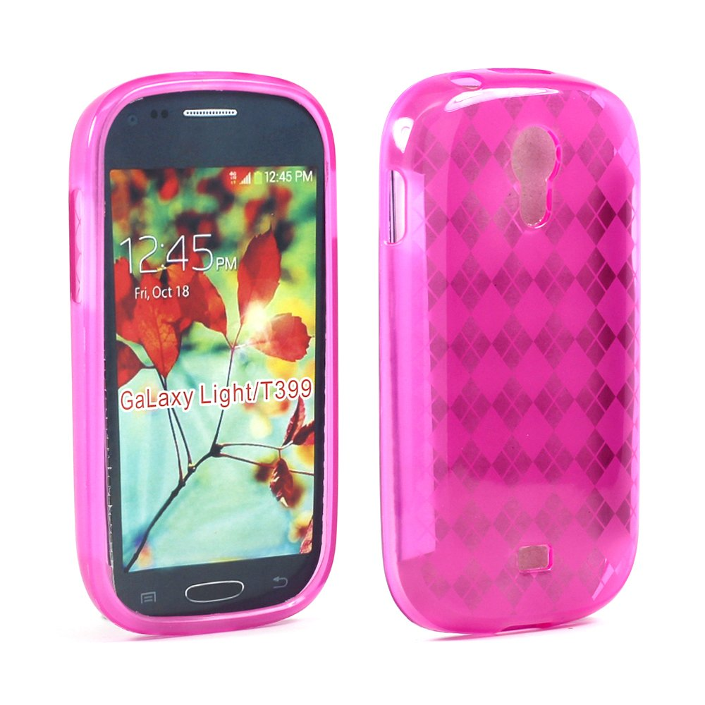 wholesale samsung galaxy light t399 tpu gel case hot pink. Black Bedroom Furniture Sets. Home Design Ideas