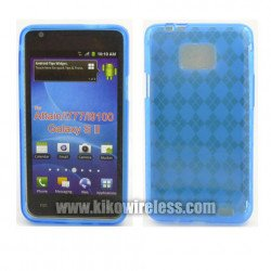 TPU Gel Case for Samsung Galaxy S2 / I777 (Blue)