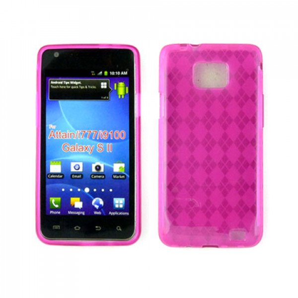 Wholesale TPU Gel Case for Samsung Galaxy S2 / I777 (Hotpink)