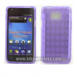 TPU Gel Case for Samsung Galaxy S2 / I777 (Purple)