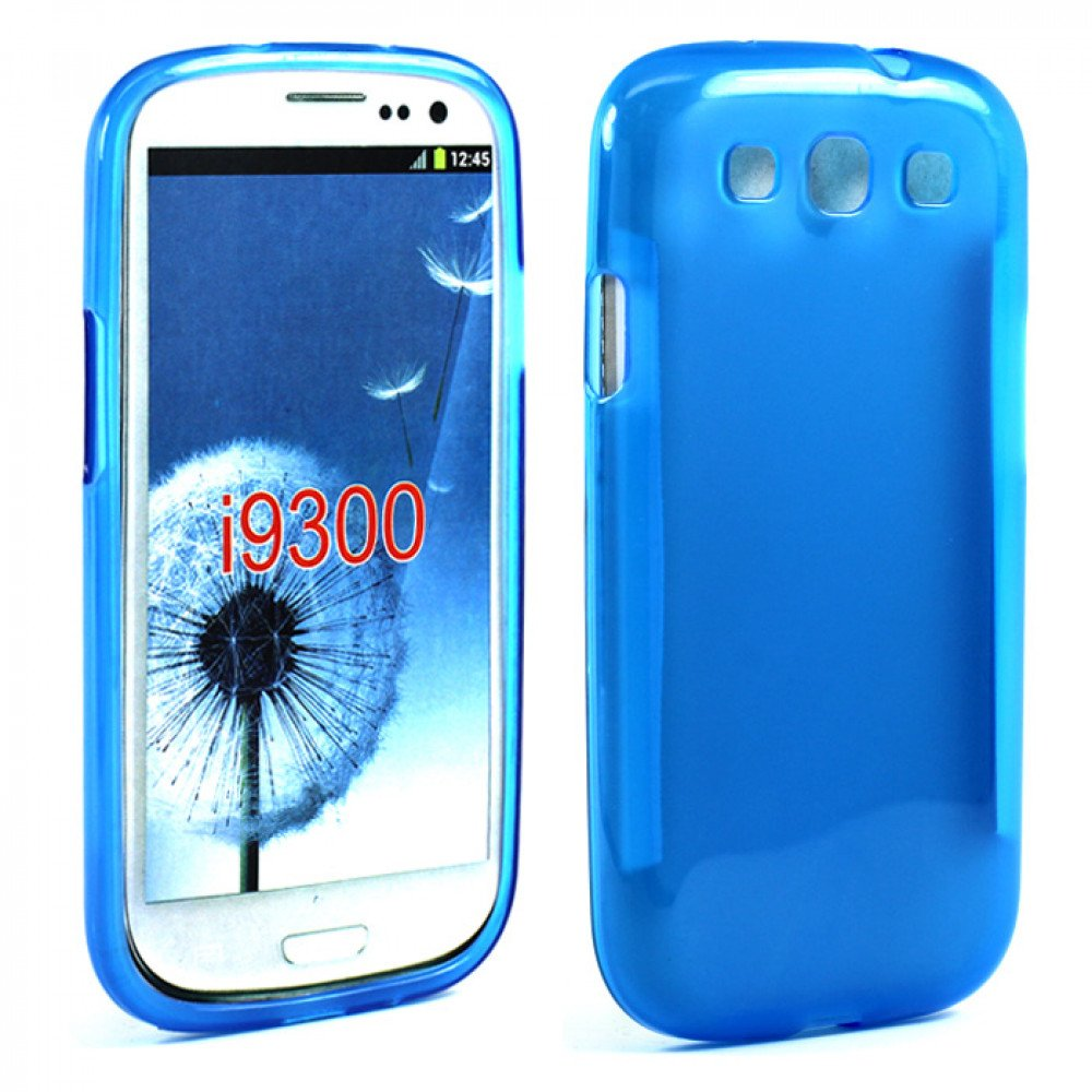 Wholesale Samsung Galaxy S3 i9300 TPU Gel Case (Blue)