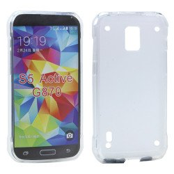 Samsung Galaxy S5 Active G870 TPU Gel Soft Case (Clear)