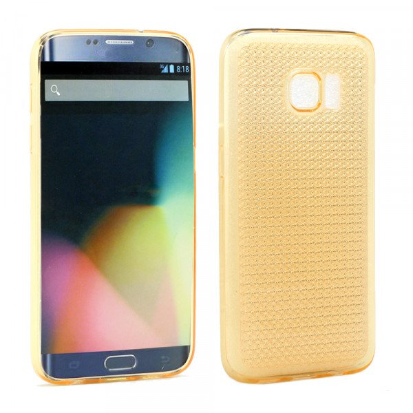 Wholesale Samsung Galaxy S7 Shiny TPU Soft Case (Golden Yellow)
