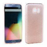 Wholesale Samsung Galaxy S7 Edge Shiny TPU Soft Case (Light Pink)