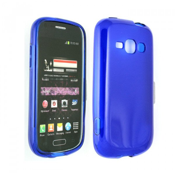 Wholesale Galaxy Prevail 2 M840 TPU Gel Case (Blue)