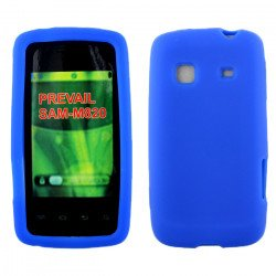 Samsung Galaxy Prevail / M820 Silicone Skin Case (Blue)