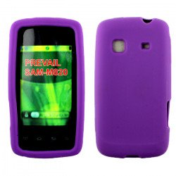 Samsung Galaxy Prevail / M820 Silicone Skin Case (Purple)