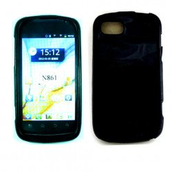 TPU Gel Case for ZTE Warp Sequent / N861 (Black)
