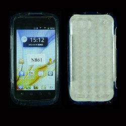 TPU Gel Case for ZTE Warp Sequent / N861 (Clear)