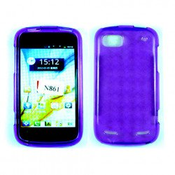 TPU Gel Case for ZTE Warp Sequent / N861 (Purple)