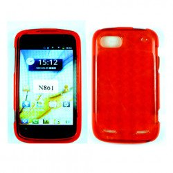 TPU Gel Case for ZTE Warp Sequent / N861 (Red)