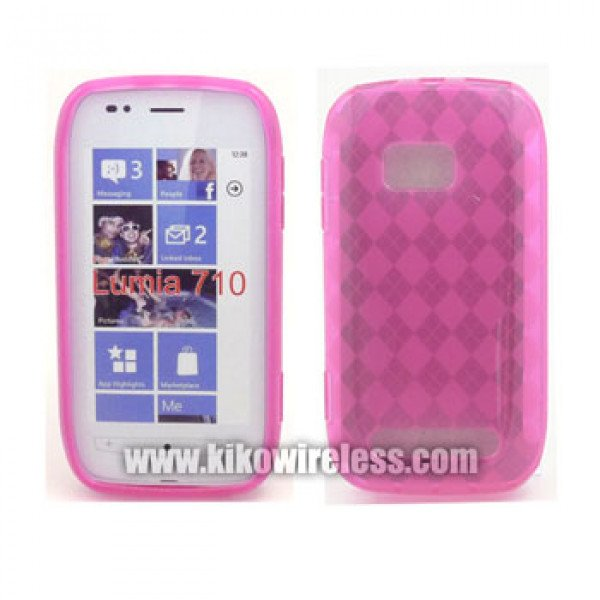 Wholesale Gel Case  for Nokia Lumia 710(Pink)