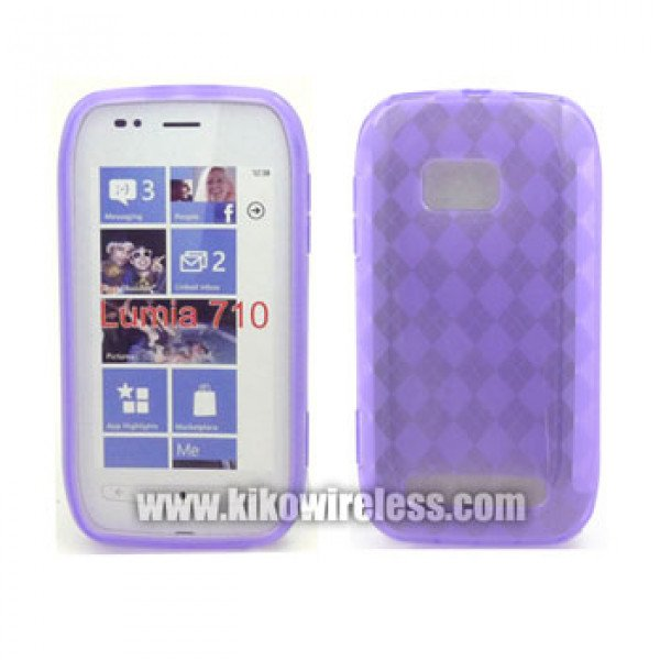 Wholesale Gel Case  for Nokia Lumia 710(Purple)