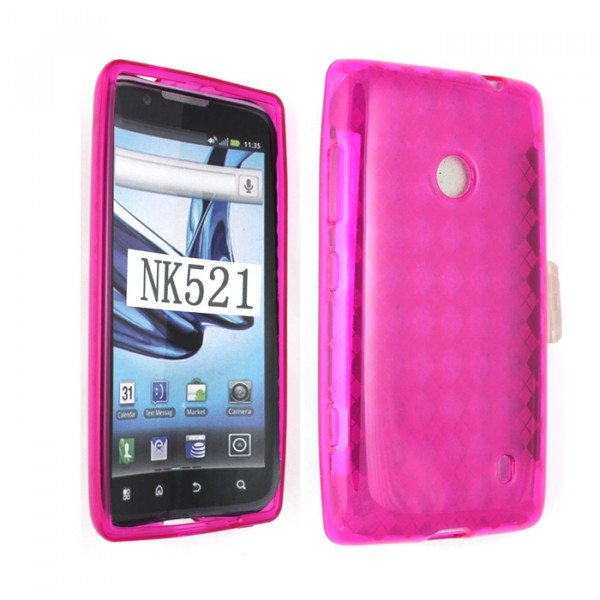 Wholesale Nokia Lumia 521 TPU Gel Case (Hot Pink)