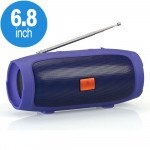 Wholesale Portable Charge Plus Bluetooth Wireless Speaker with FM Radio, Micro SD, Flash Drive Slot, Aux Port, Built in Microphone (Blue)