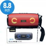 Carry Strap LED Light Portable Bluetooth Wireless Speaker with FM Radio, Micro SD, Flash Drive Slot, Aux Port (Red)