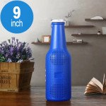 Wholesale Beer Cola Bottle Style Bluetooth Wireless Speaker with FM Radio, Micro SD, Flash Drive Slot, Aux Port, Flash Light (Blue)