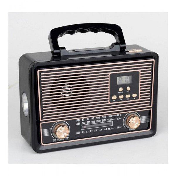 Wholesale Large Retro Classic Design AM FM Radio Portable Bluetooth Speaker YS603BT (Gold)