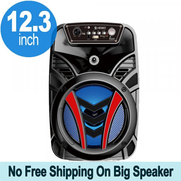 Wholesale Cool Design Carry Handle Large LED Trolley Portable Wireless Bluetooth Speaker QS610 (Black Red)