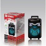 Wholesale Futuristic Design Carry Handle Large LED Portable Wireless Bluetooth Speaker QS824 (Black)