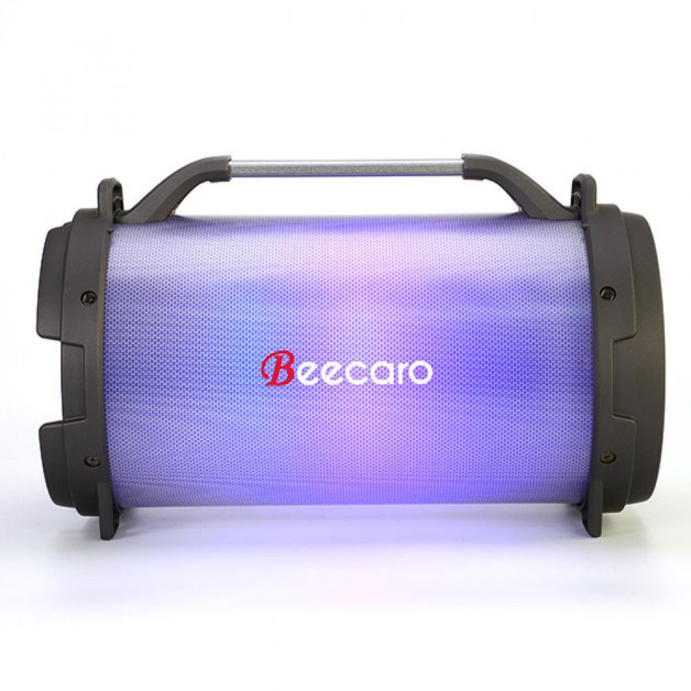 Wholesale Large LED Light Loud Bass Shock Sub-woofer Portable Wireless Bluetooth Speaker RX28 (Black)