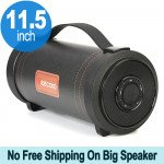 Heavy Bass Sub-woofer Portable Wireless Bluetooth Speaker with Carry Handle S39 (Black)