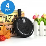 Round Style Portable Bluetooth Speaker with Carry Strap BS119 (Black)